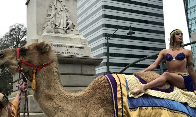 Ballerina and camel replace politicians at the State House