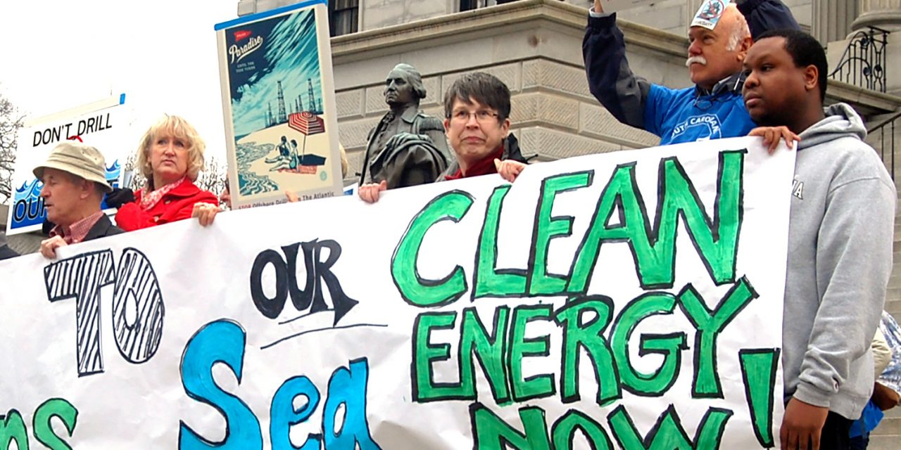 Anti-offshore drilling rally draws hundreds