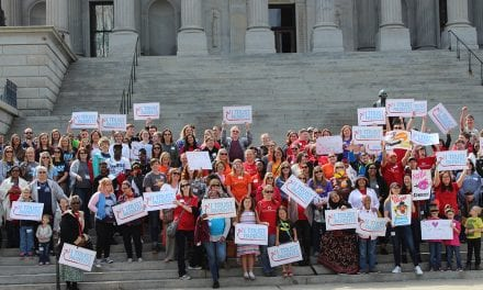 Students and parents rally at State House for public charter schools