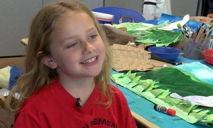 Spring break camp teaches kids manners along with art