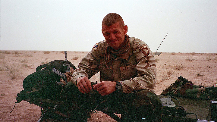Ike Braden While He Was Deployed In 2003 The First Tour That Went To Iraq With Mission Of Finding Osama Bin Laden