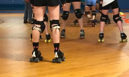 Blocking, jamming and bouts are all part of local roller derby