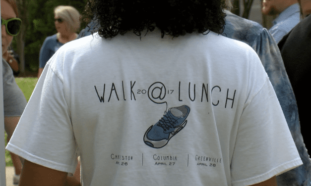 Columbia steps up for National Walk at Lunch Day