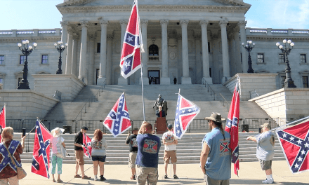 Confederate flag flies again at SC State House