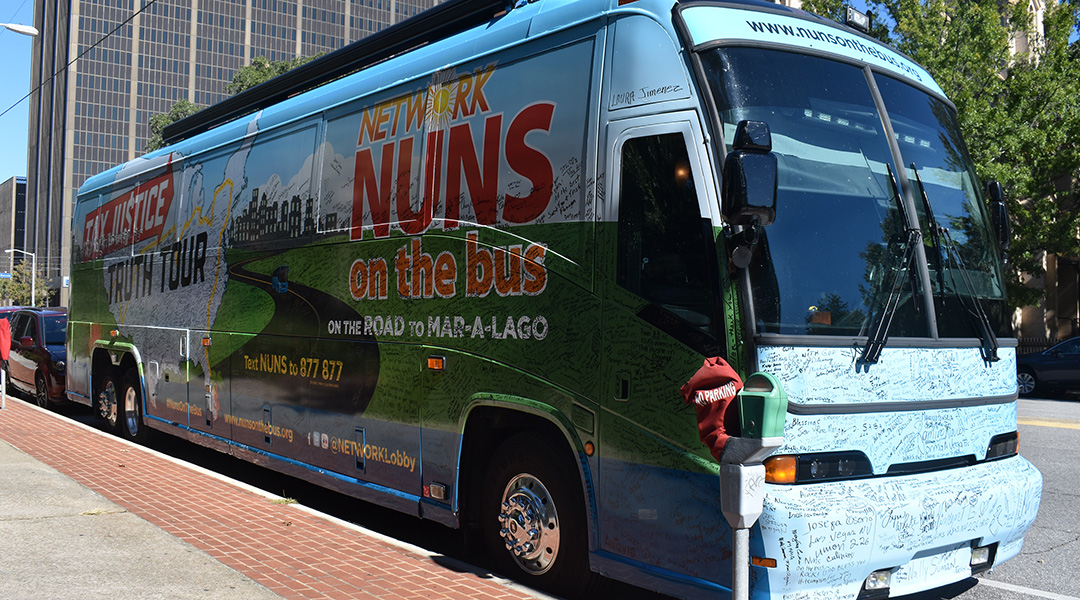 Nuns on the Bus argue for better wages in stop at Columbia State House