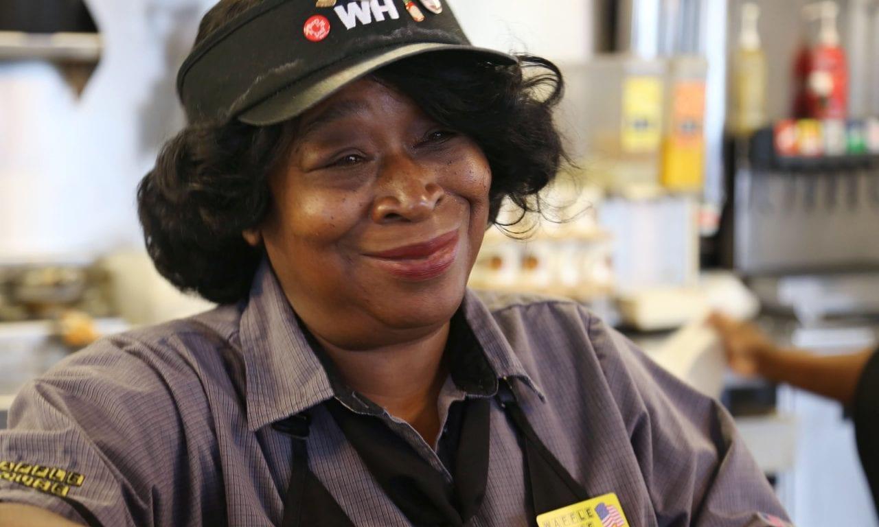 Waitress Diane Brown
