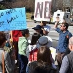 Protests erupt over border wall