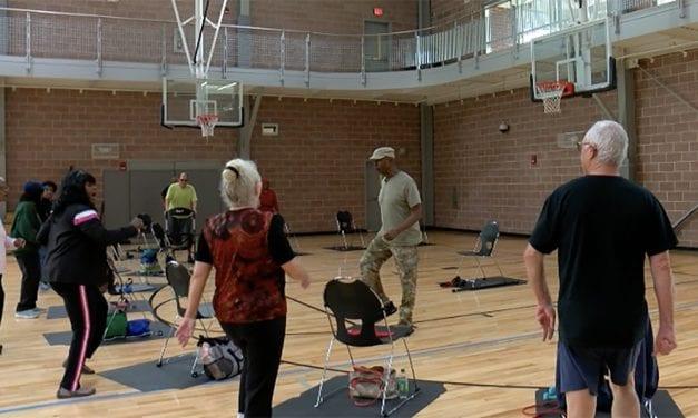 Chair aerobics help senior citizens stay active