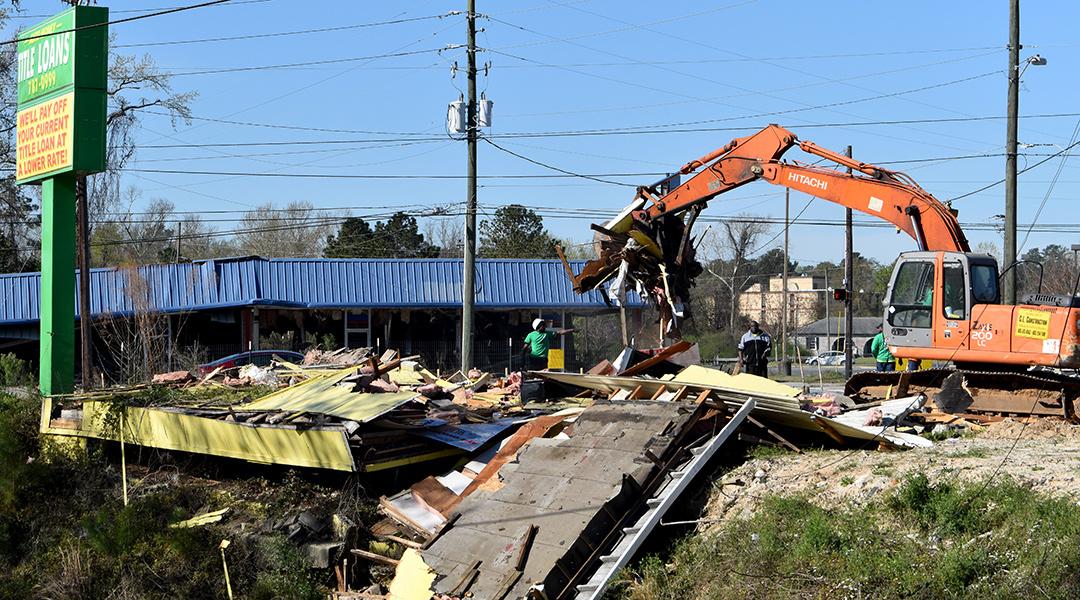 Return to nature: Reminder of 2015 flood destruction demolished