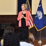 Elizabeth Warren visits Allen University for campaign tour