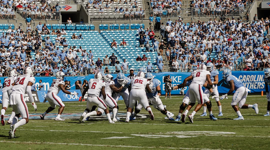 Tar Heels outlast Gamecocks in Belk College Kickoff