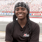 Brehanna Daniels jumps over barriers to make NASCAR history