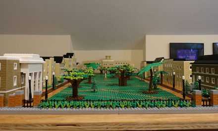 Father-son duo create LEGO Horseshoe