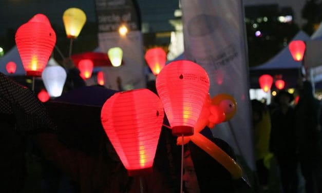 Columbia lights the night to cure blood cancers