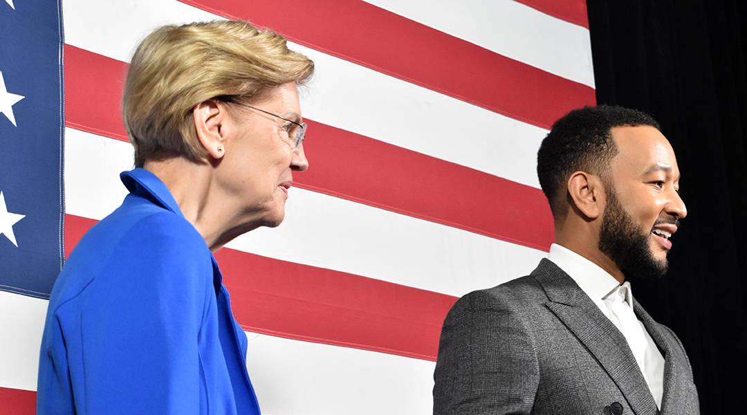 Stars add glitz to presidential candidates