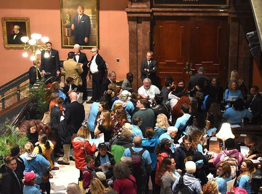 Pro-choice, anti-abortion activists speak at State House