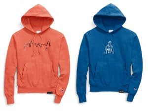 two popular hoodie designs by Boring Cloth