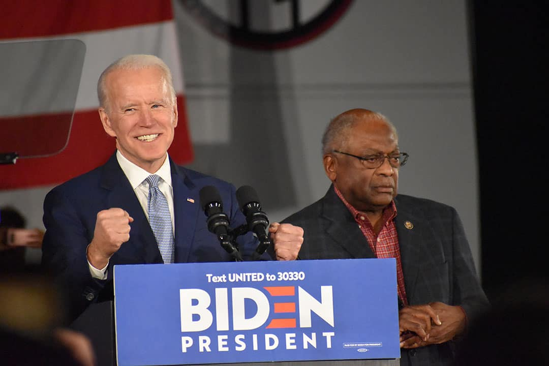 Joe Biden, Jim Clyburn at SC primary night victory