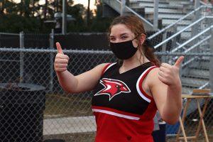 Cheerleader on sidelines