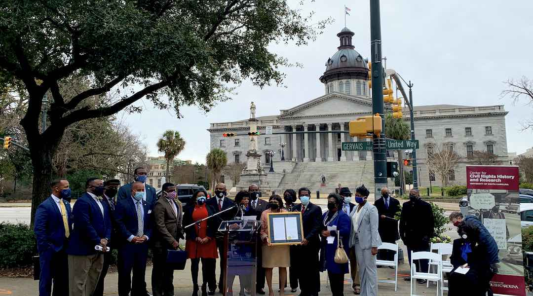 UofSC civil rights center unveils monument commemorating historical march