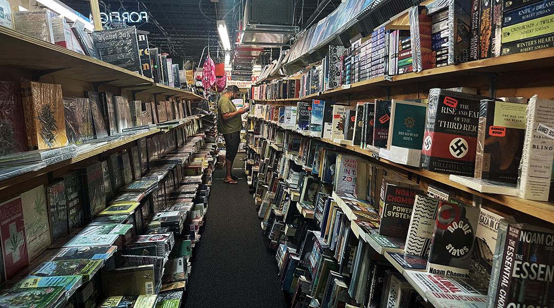 Peeking into the world of books